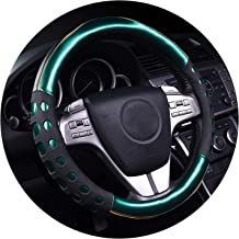 Ablaze Jin 3D Non-Slip Personalized Cute Steering Wheel Covers Colourful Leather & PVC Luxury Car Accessories for Girls