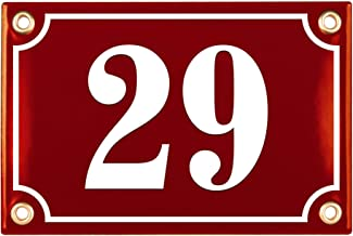 Sosenco Adresplaatjes - Gepersonaliseerd Geëmailleerde Plaat Huisnummer - een Huisnummerbord - Waterdichte Adresbord - 10x...