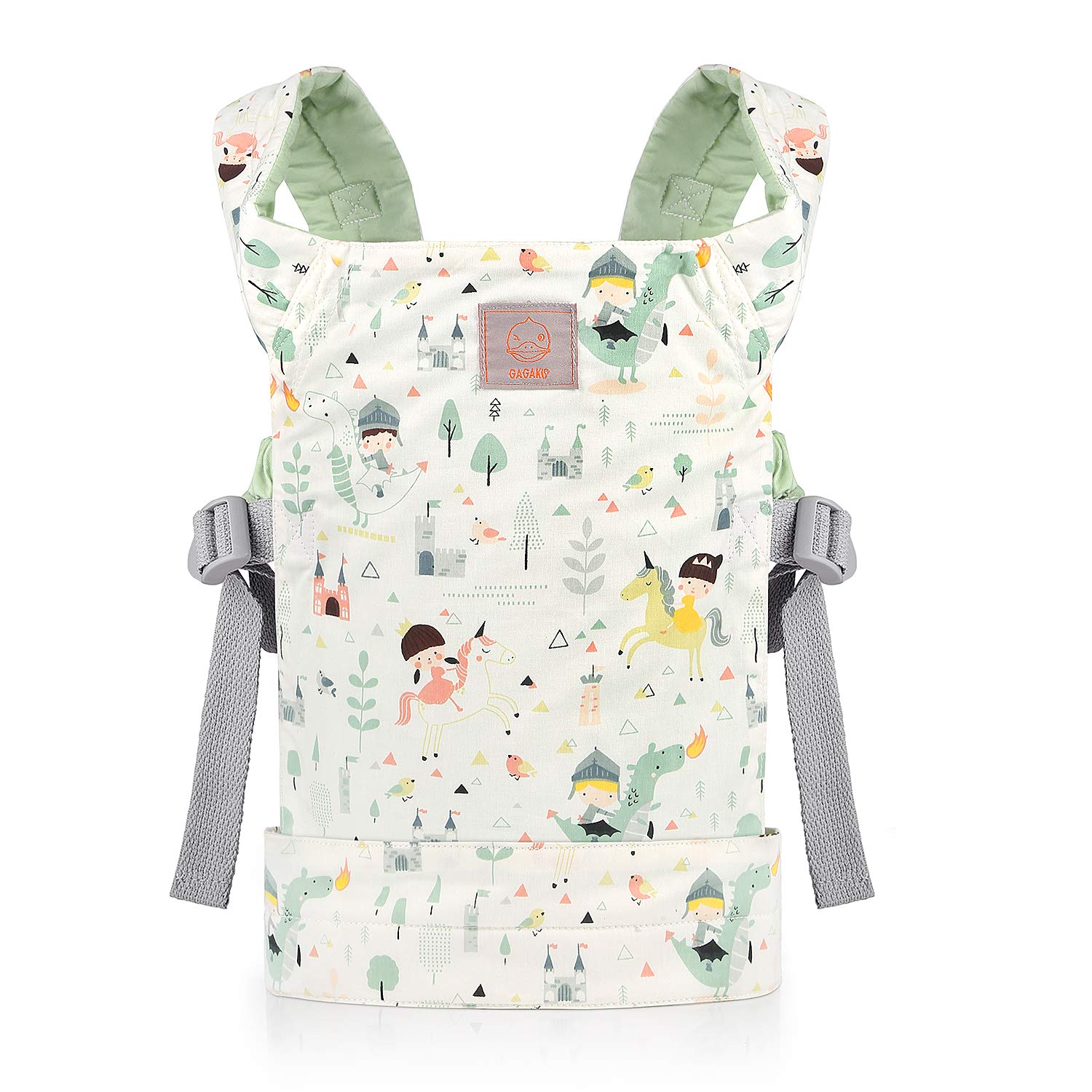 GAGAKU Dolls Carrier Front and Back Soft Cotton for Baby Girls Over 36 Months, Cute Pattern