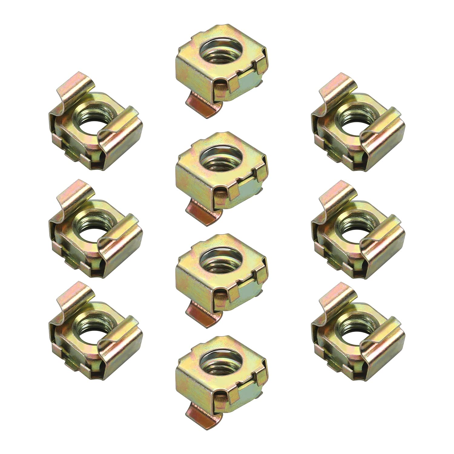 MroMax M8 Cage Nuts for 25% OFF Server Yellow Cabinet Carbon Kansas City Mall Rack Steel