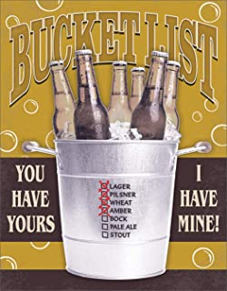 "Best Desperate Enterprises My Bucket List Tin Sign, 12.5"" W x 16"" H Review"