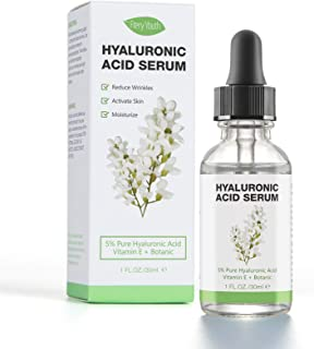 Hyaluronic Acid Serum for Skin - 100% Pure Organic HA, Anti-Aging Face Serum for Dry Skin, Fine Lines. Hydrating, Repairin...