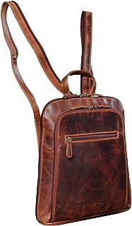 """STILORD Talisa"""" Kleiner Leder Rucksack Damen Vintage Rucksackhandtasche Lederrucksack Handtasche City Ausgehen Shopping Daypack"""