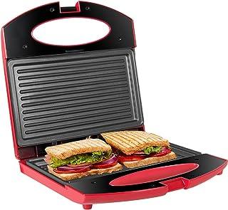 Gotoll Toaster Croque Monsieur 3 en 1 Appareil Panini Grill Antiadhésive 750W Sandwich Maker Presse à Panini - Rouge