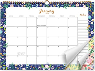 Sweetzer & Orange 2020 Calendar. 18 Month Office or Family Wall Calendar 2020-June 2021 - Floral Border Monthly Planner, Daily Wall Calendars for Office Organization. 11.5 x 15 Inch Hanging Wall