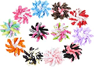 HipGirl Cute Puppy Dog Hair Bow Clips - Handmade Hair Accessories, Pet Grooming Products