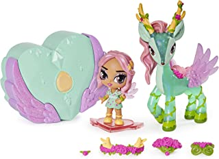 Hatchimal Pixies Riders, Petal Primrose Pixie and Deeraloo Glider Set with Mystery Feature
