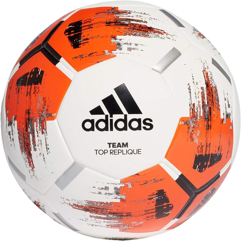 Niños Persistente pase a ver  Amazon.com : adidas Unisex Adult Team Top Replique Football - Top:  White/Orange/Black/Iron Metallic Bottom: Silver Metallic, Size 4 : Sports &  Outdoors