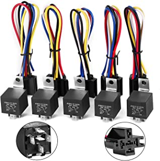 Newautoparts 5 Pack set for 30/40 AMP Relay Harness kit 12V 5 PIN