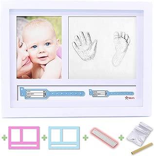 BELF1®? Set de Marco de fotos y Huellas de bebé Pulseras de Nacimiento Marcos de fotos Huellas de bebés Conjunto de huellas Kit de niños Huella Mano y pie del bebé NEW MODEL 2020
