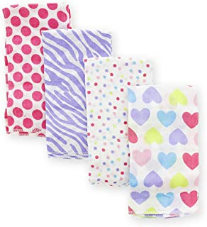 Gerber Girl Print Prefold Burp Cloths - 4 Count