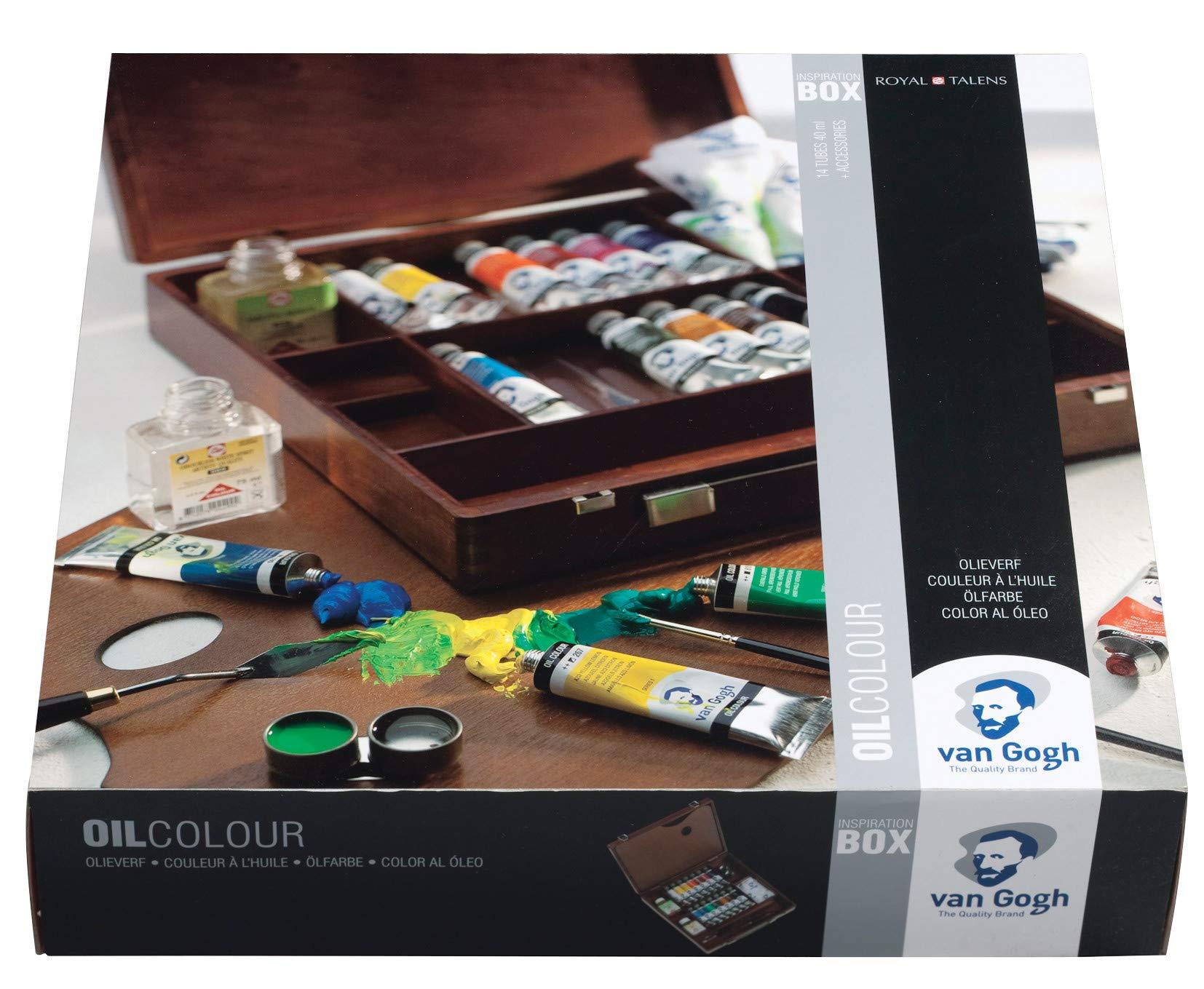 Royal Talens Van Gogh Caja De Madera Lujo Pintura Al óleo Set ...