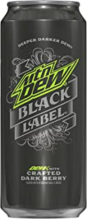 Mountain Dew Black Label, 16 oz Cans (Pack of 12)