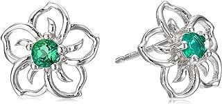 Sterling Silver Sky Flower Stud Earrings