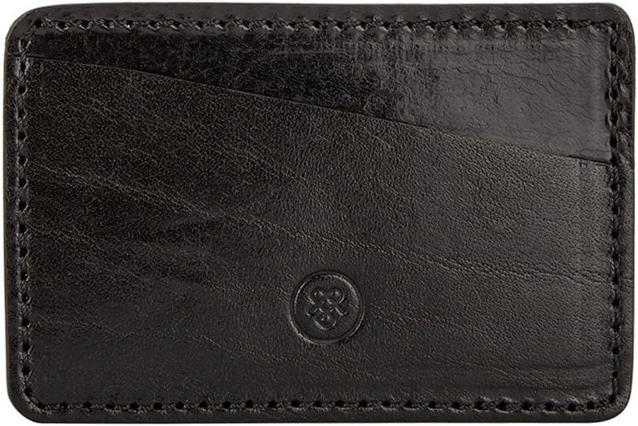 Maxwell Scott Italian Leather Credit Bombing new work Max 58% OFF Case Alberi Black - Card
