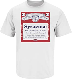Smack Apparel Syracuse Football Fans. Syracuse: King of College Towns. White T-Shirt (Sm-5X)