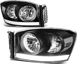 DNA Motoring Black clear HL-LB-DR06-BK-CL1 Headlight Assembly (Driver & Passenger Side)