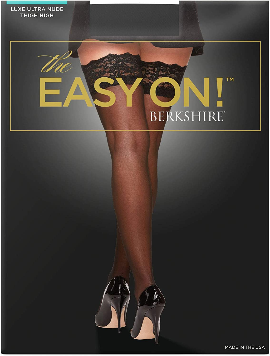 Berkshire Women's The Easy On! Luxe Sheers Lace Top Thigh High Pantyhose