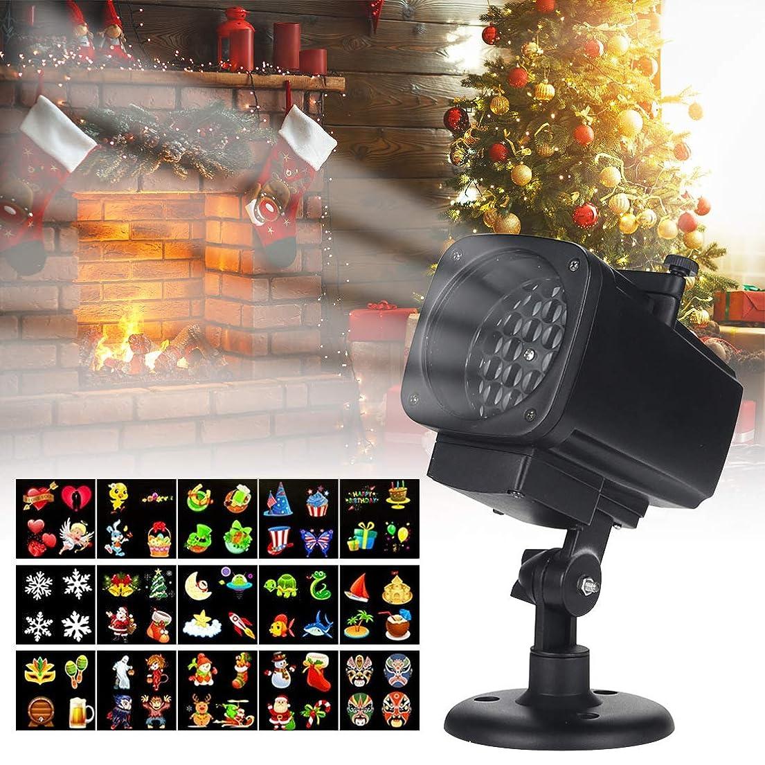 取る短くするしなやかクリスマススノーフレークプロジェクターライト、クリスマスハロウィーンのため1レンズ屋外防水LEDレーザーランプ315°調節可能な回転電気景観装飾ランプで18