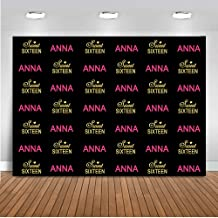 Mehofoto Customized Sweet 16 Backdrop Custom 15th 16th 17th 18th 21th Name Color Birthday Photography Background 7x5ft Vinyl Birthday Party Banner Backdrops