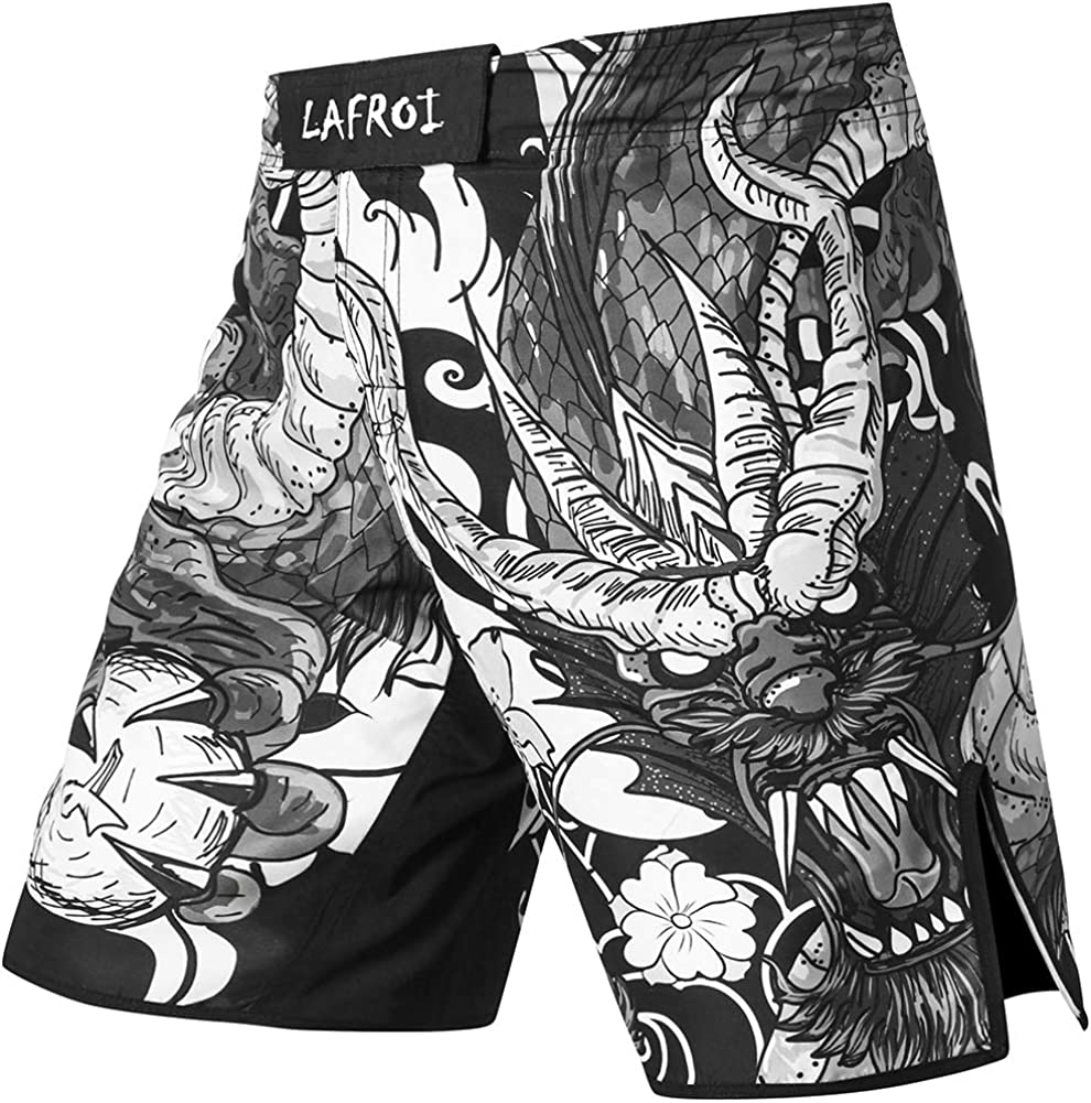 LAFROI Mens MMA Cross Training Charlotte Mall Boxing w Shorts Trunks Fight Excellence Wear