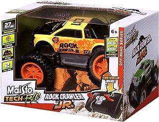 مايستو مجسم سيارة روك كالير للطرق الوعرة مع جهاز تحكم ، اصفر