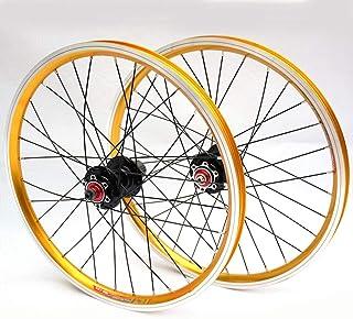 LYzpf Montaña Llantas Bicicleta Rueda Perfil Delantera Trasera Bici Rim Conjunto 20 Inch Freno Disco 4 Rodamientos Equipamiento