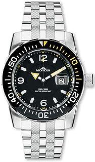 Mondia Wave Mens Analog Quartz Watch with Stainless Steel Bracelet 1-690-3