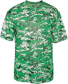 Badger B-Core Shoulder Panel Performance Camo T-Shirt, XL, Kelly Green Digital
