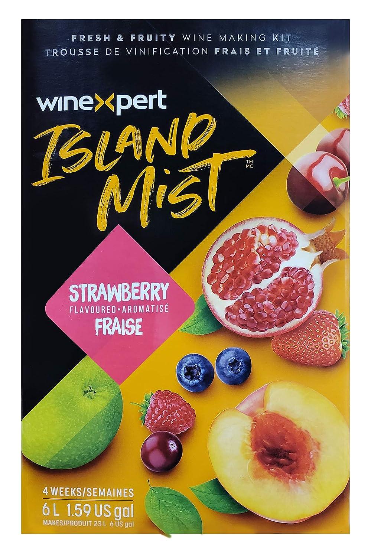 Finally resale start Winexpert Island Award Mist Strawberry White Liter Merlot 7.5 Mak Wine