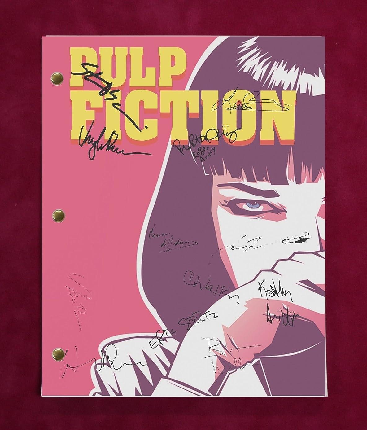 PULP FICTION SCRIPT WITH REPRODUCTION SIGNATURES Tarantino Travolta Jackson C3