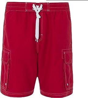 d19afd362399b Pierre Roche Mens Plus Size Mesh Lined Long Plain Swim Shorts