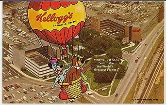 Kellogg's of Battle Creek Michigan - Yogi Bear & Huckleberry Hound (Vintage Chrome Advertising Postcard)