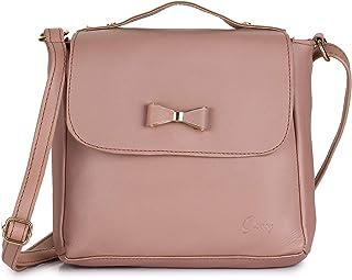 Vogue Street Women's & Girl's Sling Bag (Pink)