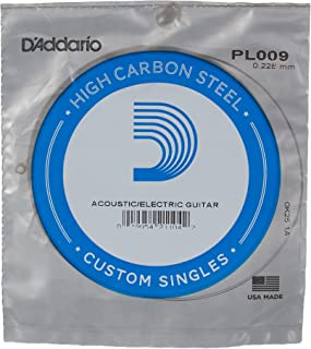 D'Addario PL009 Plain Steel Guitar Single String.009