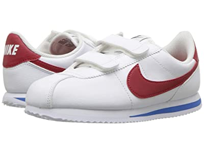 Nike Kids Cortez Basic SL (Little Kid) (White/Varsity Red/Varsity Royal/Black) Boys Shoes