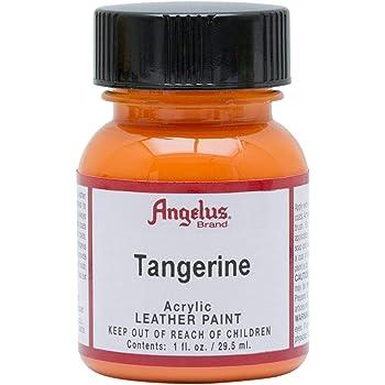 Angelus Leather Paint 1 Oz Tangerine