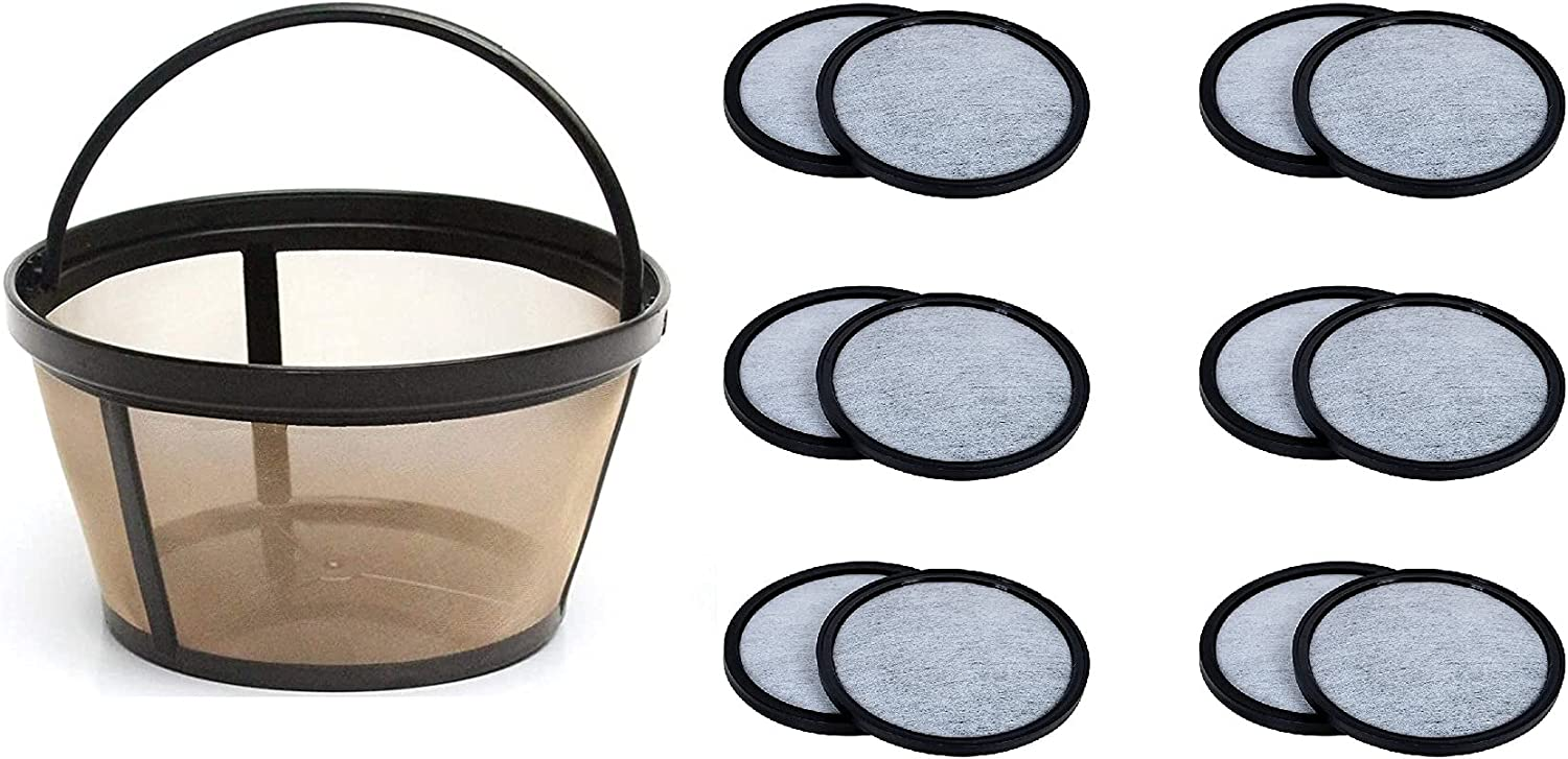 10-12 Cup Permanent Max 63% OFF Max 43% OFF Basket-Style Coffee Filter 12 of Wat a set