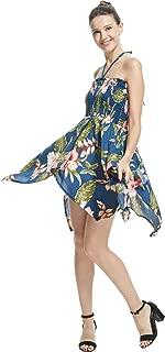 Women's Hawaiian Gypsy Fairy Uneven Bottom Luau Dress in Rafelsia