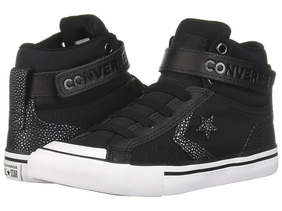 Converse Kids Pro Blaze Strap Hi (Little Kid/Big Kid) (Black/Black/White) Girls Shoes