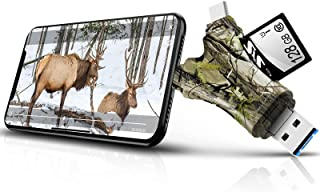 Trail Camera Viewer SD Card Reader,4 in 1 SD and Micro SD...