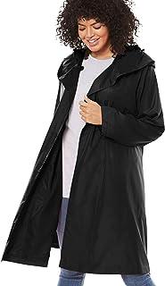 Women's Plus Size Packable Hooded Raincoat