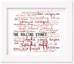 The Rolling Stones Poster Print - Exile On Main St. - Letra firmada regalo arte cartel