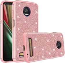 GW USA Cases for Moto Z3 Case, Moto Z3 Play Case w/Screen Protector [Dual Layer] Glitter Hybrid Shock Proof Protective Phone Case for Motorola Moto Z3 Case/Motorola Moto Z3 Play Case - Rose Gold