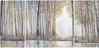 Madison Park Forest Reflections Wall Art - Canvas Wall Art Rustic Home Décor Autumn Color - Bamboo Stretched Wall Art for Living Room- 3 Piece Set Painting Canvas