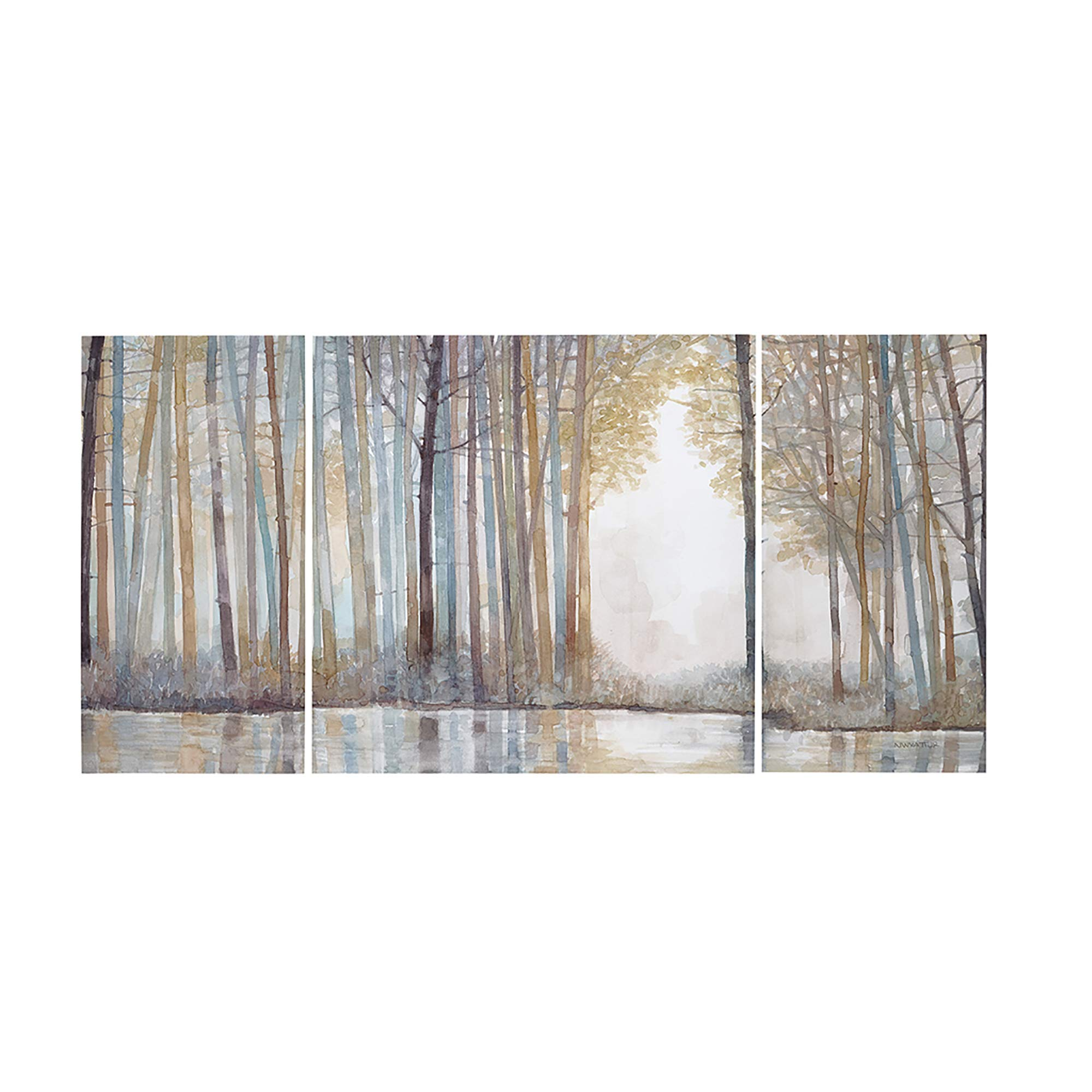 Amazon Com Madison Park Wall Art Living Room Decor Autumn Triptych Canvas Home Accent Modern Dining Bathroom Decoration Ready To Hang Painting For Bedroom Multi Sizes Natural Forest Reflections 3 Piece Posters