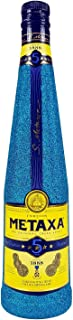 Metaxa 5 Sterne Weinbrand Brandy 0,7l 700ml 38% Vol Bling Bling Glitzerflasche in blau -Enthält Sulfite