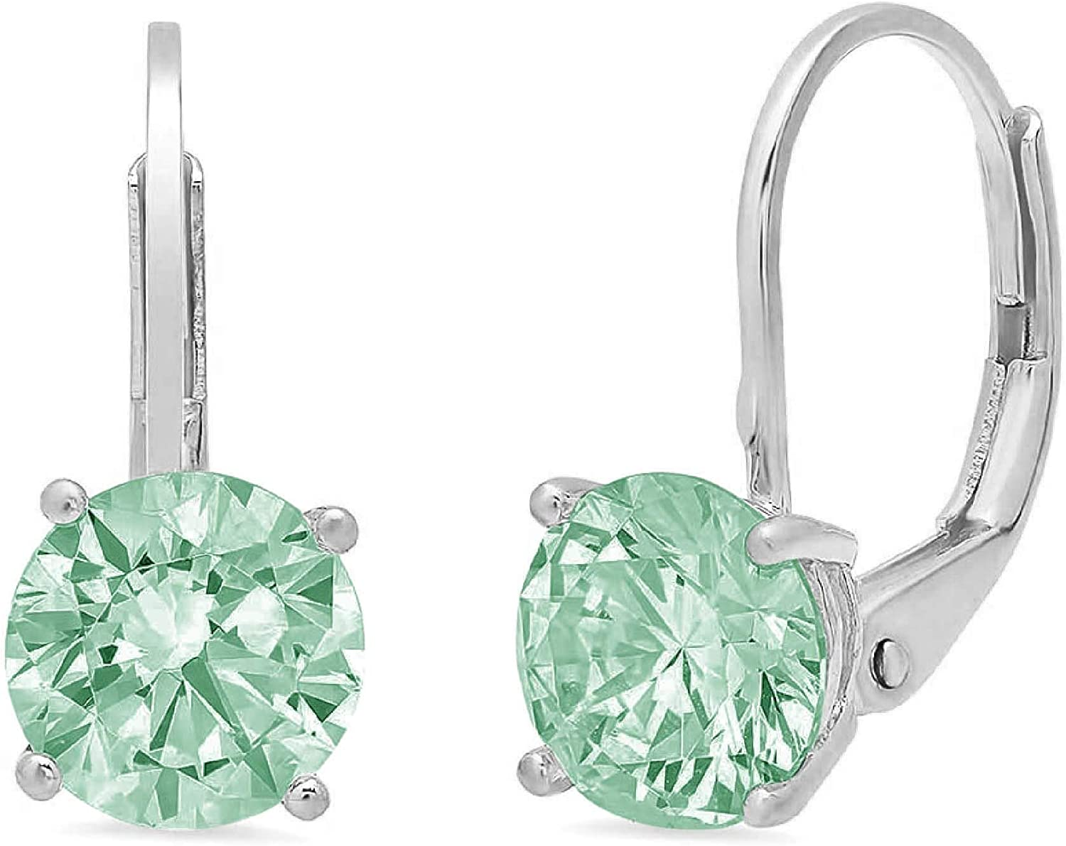 2.94cttw Brilliant Round Cut Solitaire Spring new work one after Store another Blue Moi Flawless Genuine