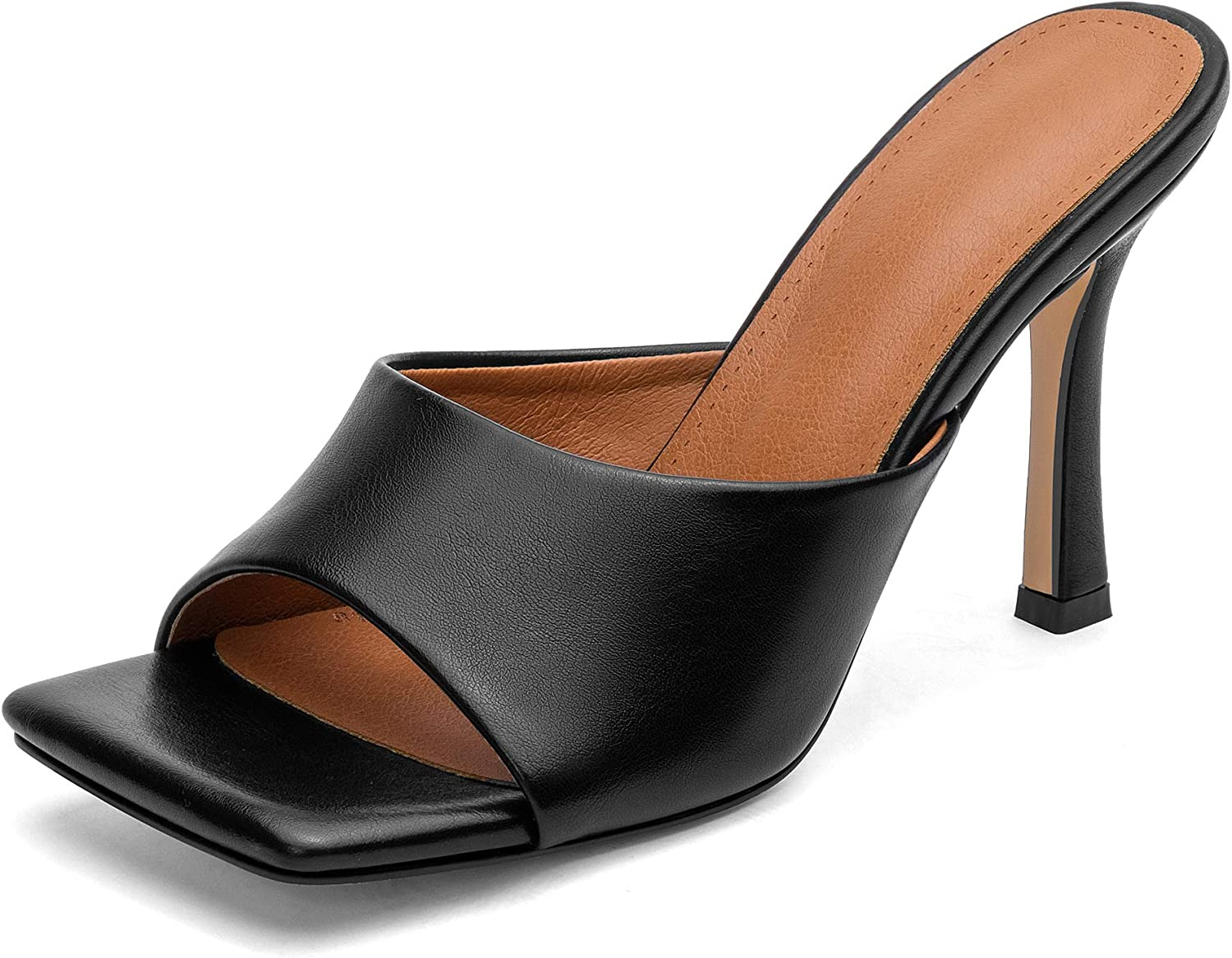 ZUQIN Our shop OFFers the best service San Francisco Mall Summer Peep Toe Stiletto High Heels for Slippers W Sandals