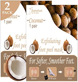 Dr. Entre's Foot Peel Mask | 2 Coconut Pairs | Baby Soft Feet in Just 7 Days, Exfoliating Callus Remover